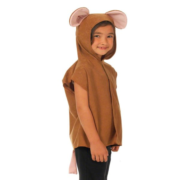 Children's Kids Boys Girls Brown Mouse Tabard Fancy Dress Up Costume (1)